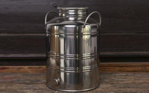 Rozsdamentes acél tároló párlatgyűjtő kanna 10 literes