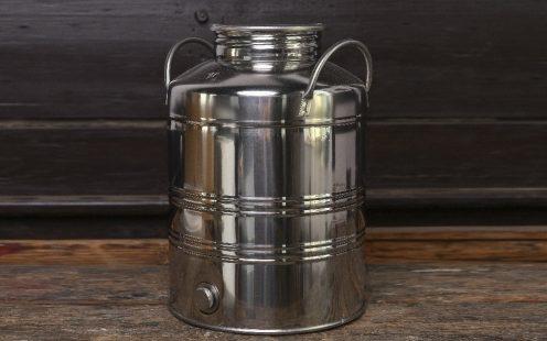 Rozsdamentes acél pálinka tároló kanna 50 literes