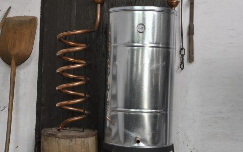 Horganyzott tartályos hűtő, réz spirálos 200l