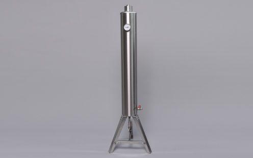 Tányéros átfolyós hűtő - rozsdamentes acél