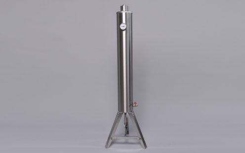 PRO-AT rozsdamentes acél átfolyós hűtő, tányéros 30l