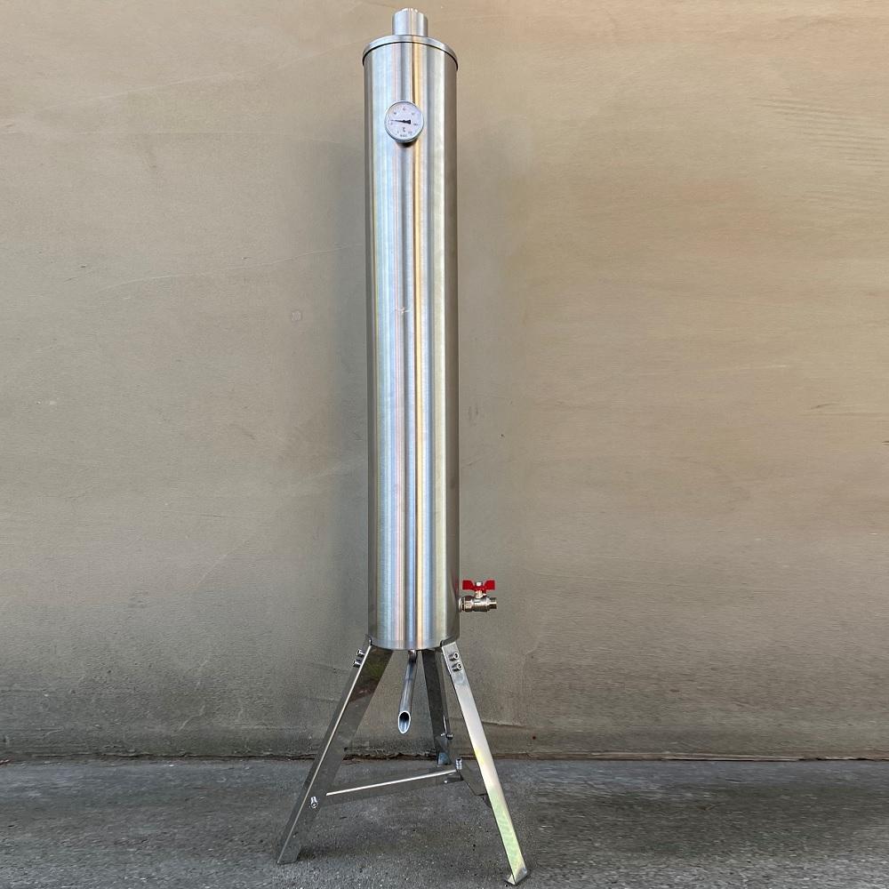 Rozsdamentes átfolyós hűtő (OPCIONÁLIS)