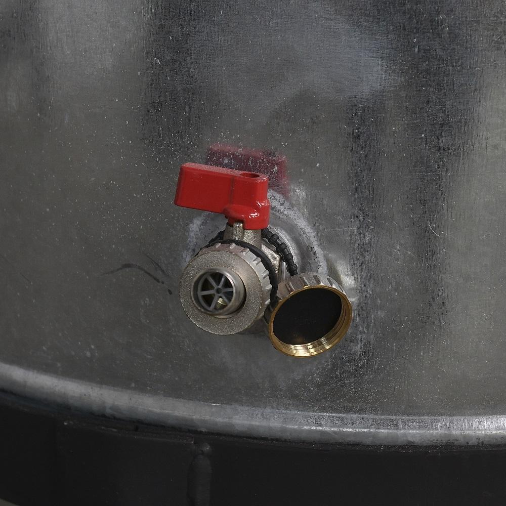 Tartályos hűtő víz betáp- és leengedőcsap