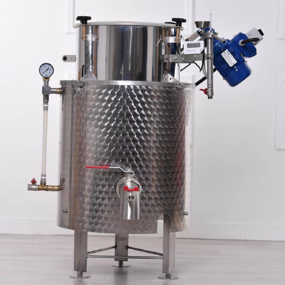 Gáztüzelésű üstház - gáz fűtési mód esetén (elektromos fűtésel is kombinálható)