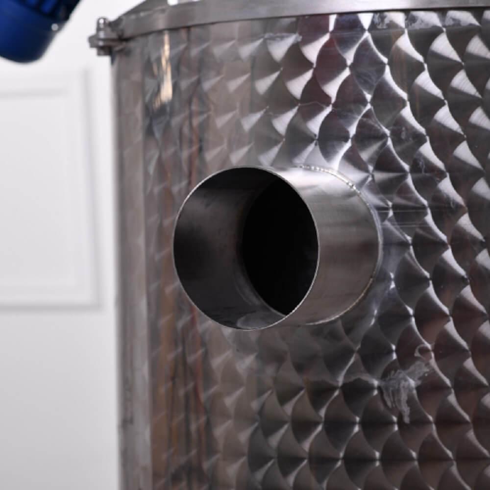 Kéménycsonk a gáztüzelésű üstházon - gáz fűtési mód esetén