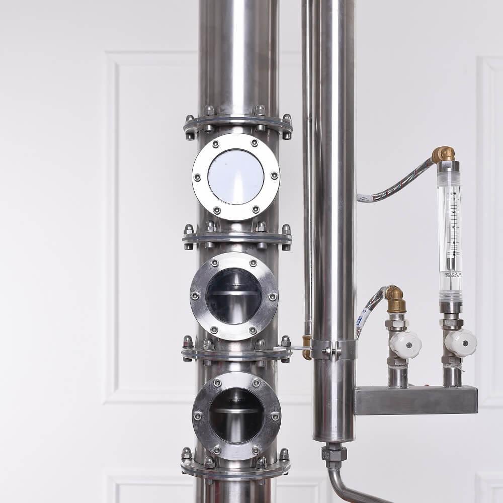 3 db szitatányéros oszloprész, átfolyásmérő deflegmátor hűtővíz szabályzáshoz - alap, közép, profi
